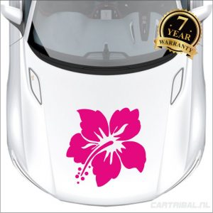 bloemen sticker model 20 auto