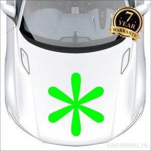 bloemensticker auto model 13