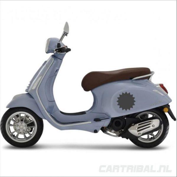 sticker van ster scooter
