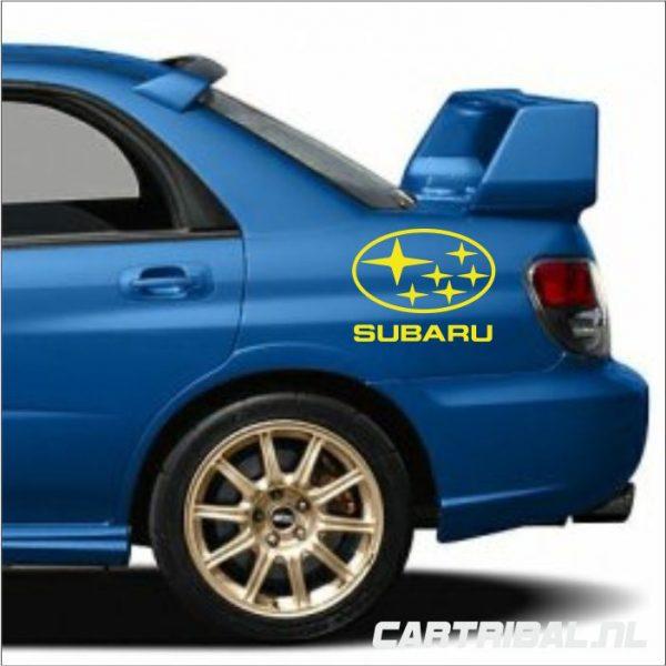 subaru logo sticker