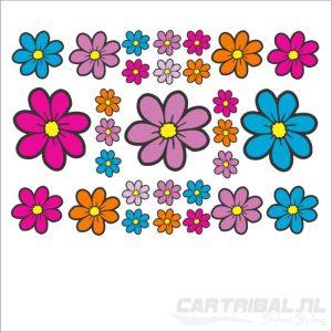 Fullcolor bloemen stickers