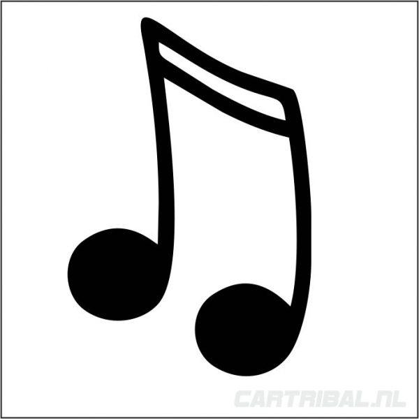 muzieknoot sticker model 5