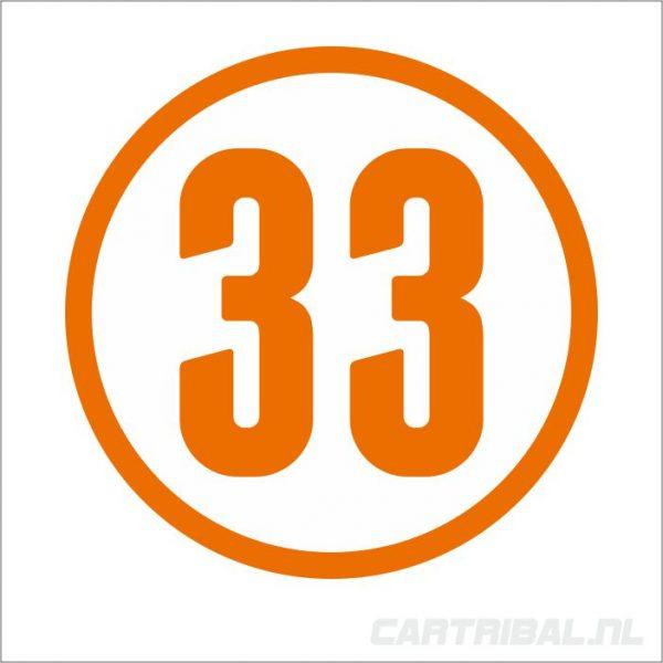 cijfer 33 sticker 2