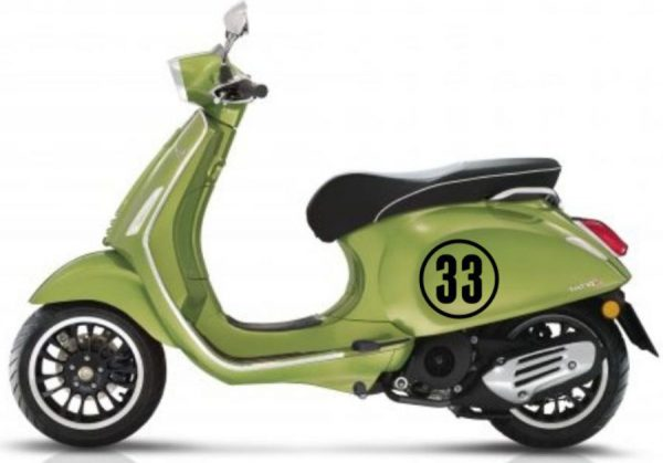 scooter nummer 33 sticker