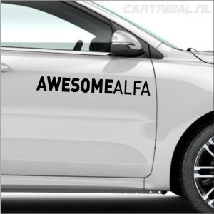 awesome alfa sticker 1
