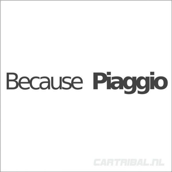 because piaggio sticker