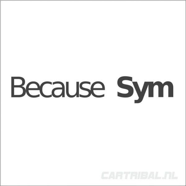 because sym sticker 2