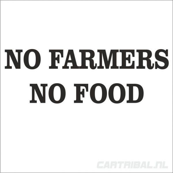 no farmers no food sticekr