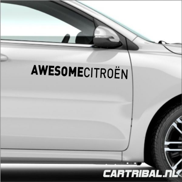 awesome citroen sticker