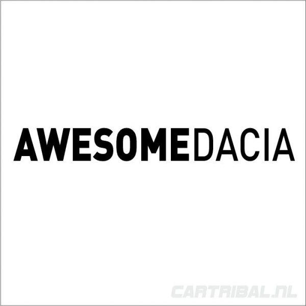 awesome dacia stickers 2