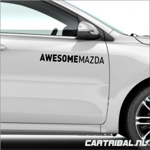 awesome mazda sticker