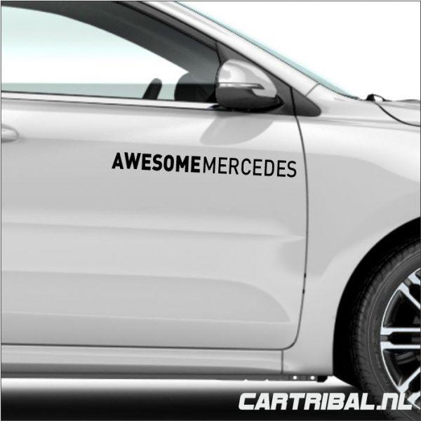 awesome mercedes stikker