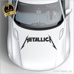 metallica logo sticker model 5