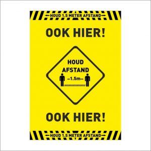 houd afstand corona poster