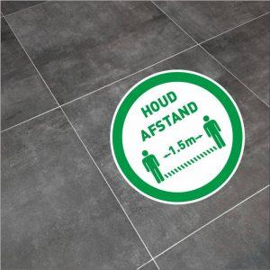houd afstand sticker rond groen 20cm-2